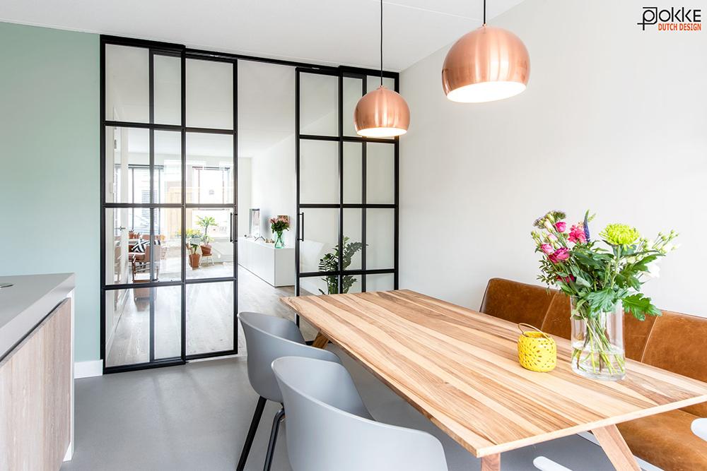 Woonkamer En Keuken : Vlieland project dubbel stalen schuifdeuren vlakken glas
