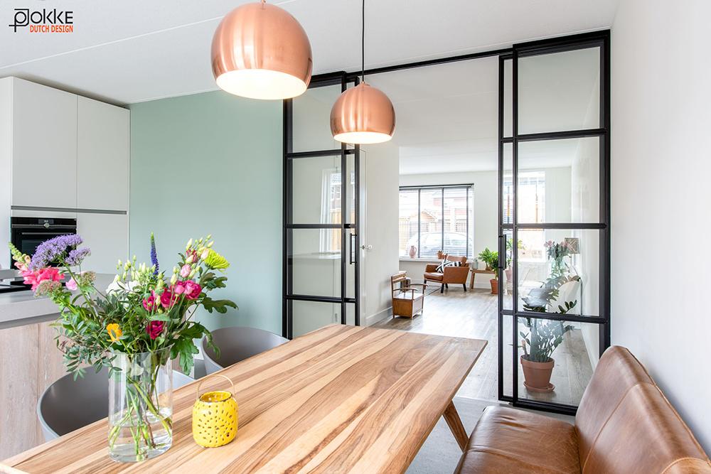En Suite Deuren : Vlieland project kamer en suite deuren van staal met glas keuken